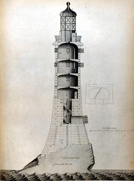 ... Were A Considerable Danger To Shipping In The Seventeenth Century. In  1698 Henry Winstanley Succeeded In Building A Lighthouse On One Of The ...